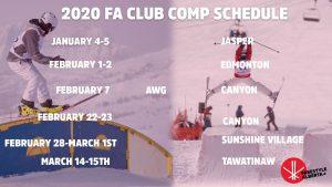 2020 FA Event Schedule